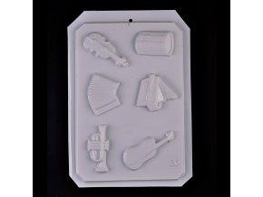 plastova forma 18x28 cm hudobne nastroje