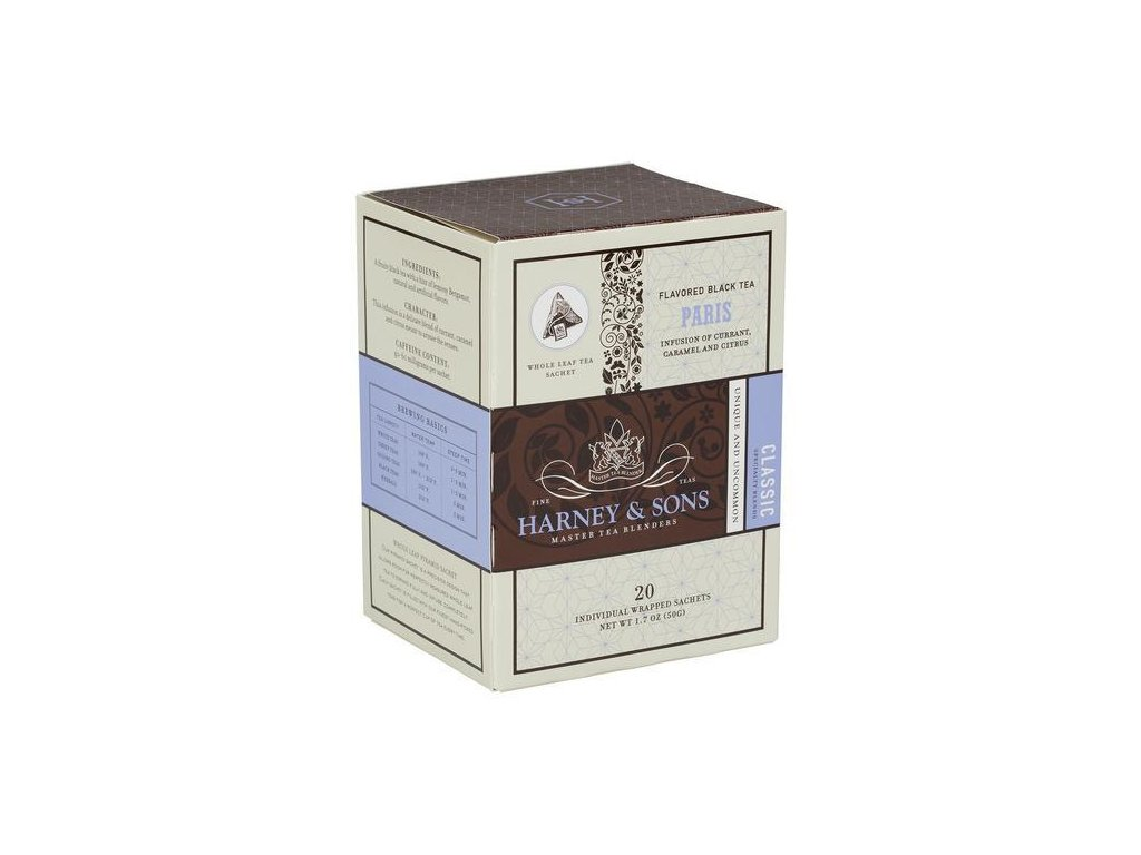 HARNEY AND SONS PARIS BOX OF 20 INDIVIDUALLY WRAPPED SACHETS grande