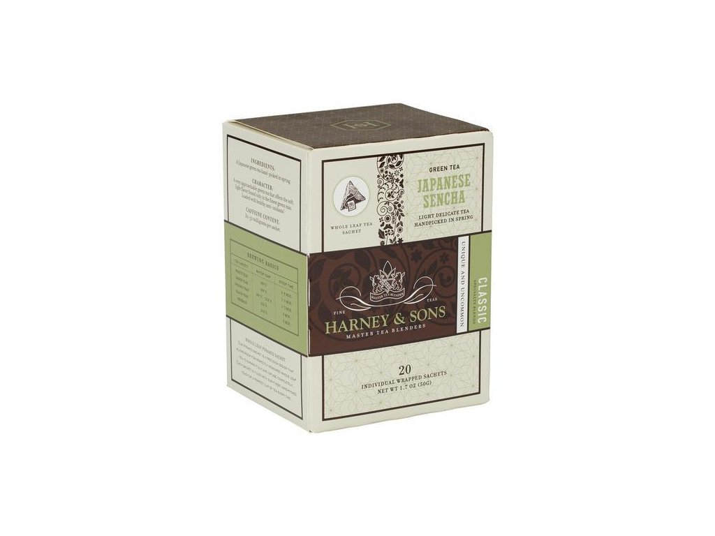 HARNEY AND SONS JAPANESE SENCHA BOX OF 20 INDIVIDUALLY WRAPPED SACHETS grande