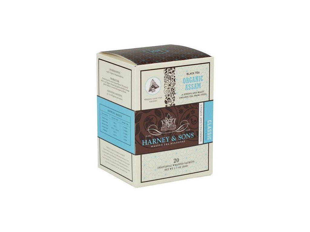 HARNEY AND SONS ORGANIC ASSAM BOX OF 20 INDIVIDUALLY WRAPPED SACHETS grande