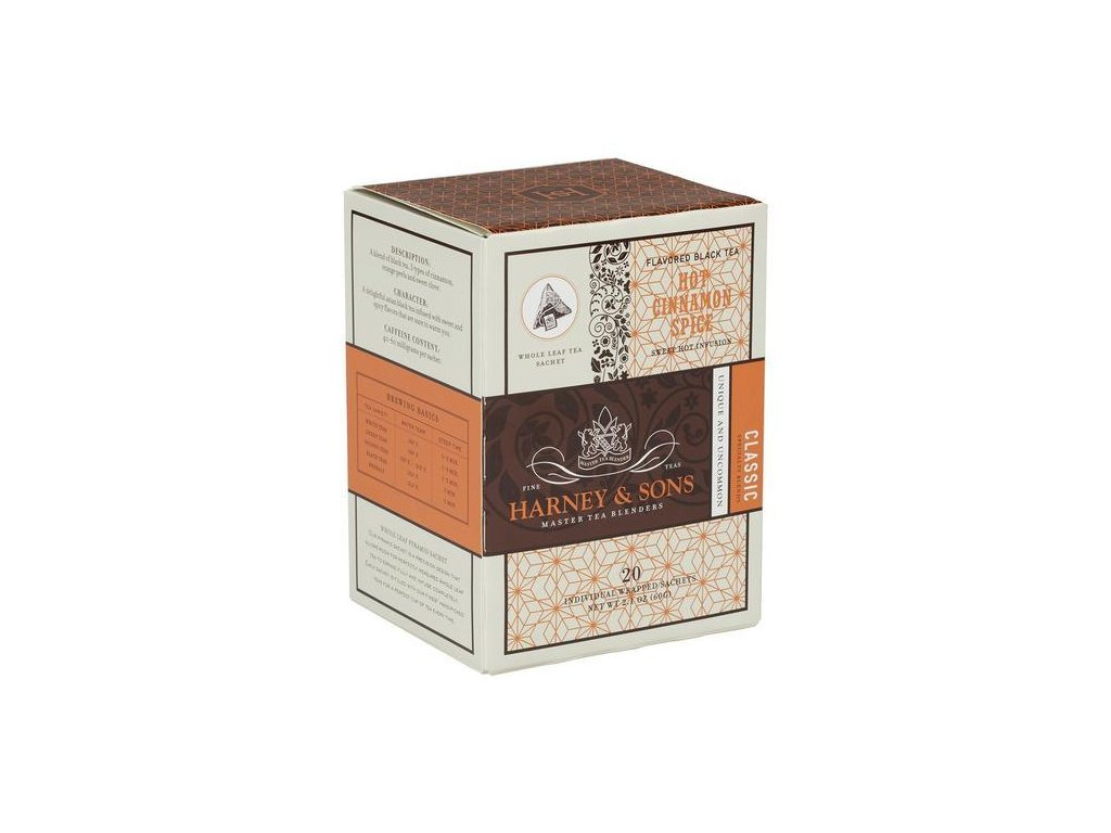 HARNEY AND SONS HOT CINNAMON SPICE BOX OF 20 INDIVIDUALLY WRAPPED SACHETS grande