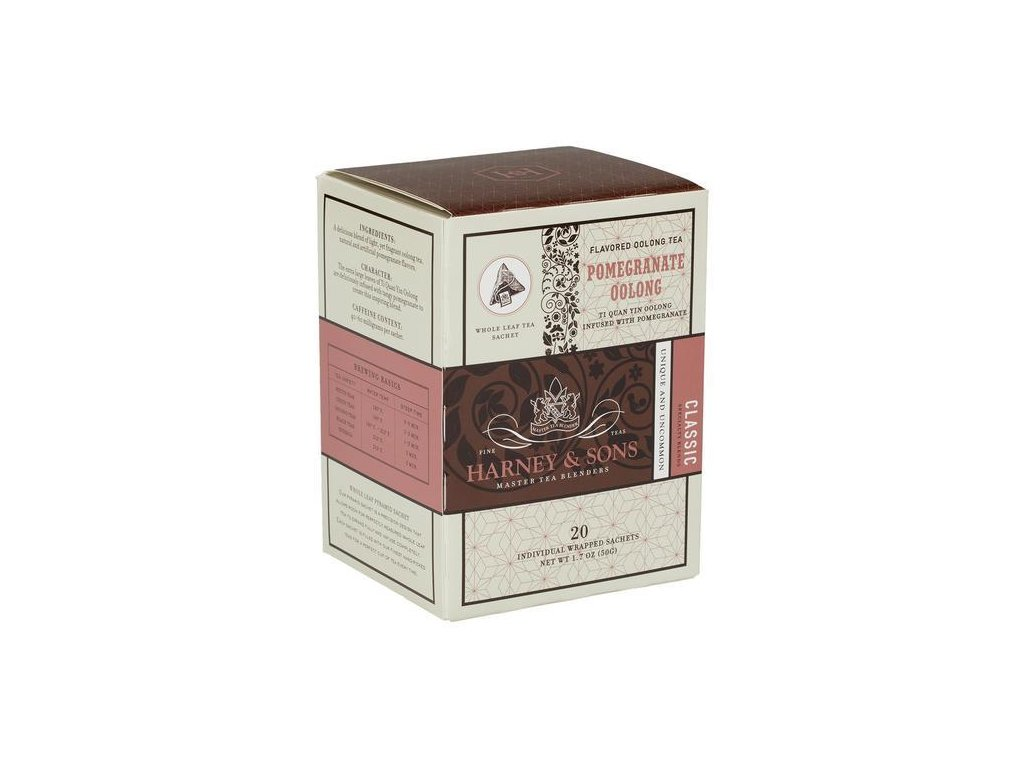 HARNEY AND SONS POMEGRANATE OOLONG BOX OF 20 INDIVIDUALLY WRAPPED SACHETS grande