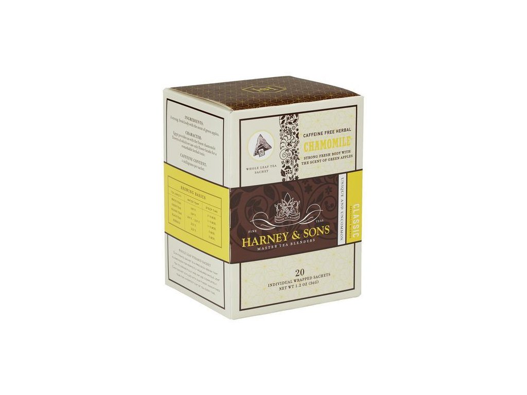 HARNEY AND SONS CHAMOMILE BOX OF 20 INDIVIDUALLY WRAPPED SACHETS grande