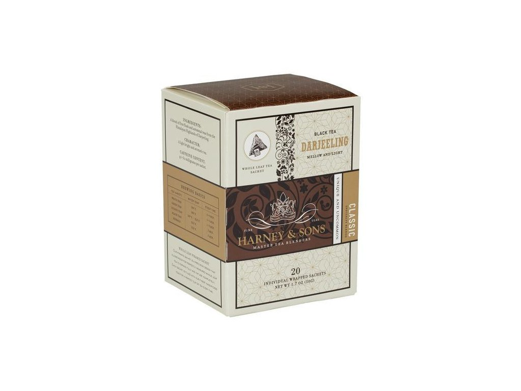 HARNEY AND SONS DARJEELING BOX OF 20 INDIVIDUALLY WRAPPED SACHETS grande