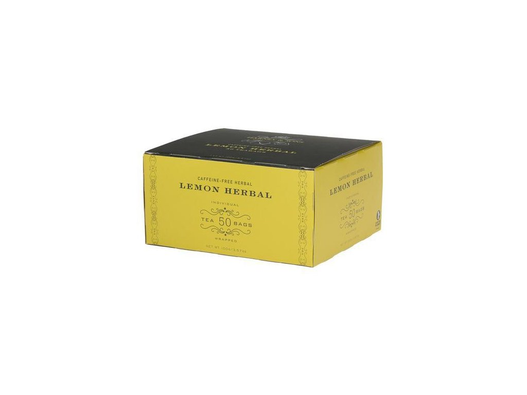HARNEY AND SONS LEMON HERBAL BOX OF 50 FOIL WRAPPED TEABAGS grande