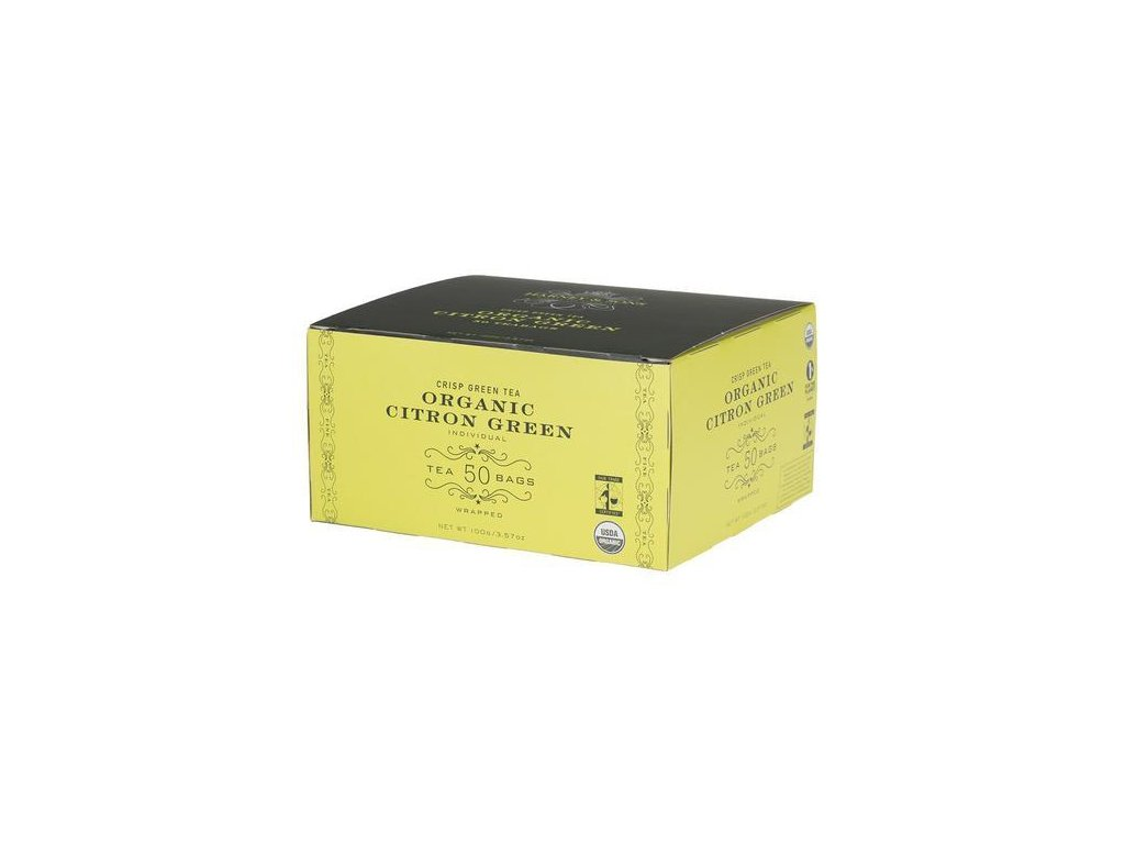 HARNEY AND SONS ORGANIC CITRON GREEN BOX OF 50 FOIL WRAPPED TEABAGS grande