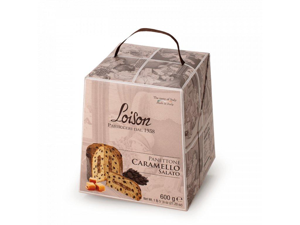 Panettone slaný karamel Loison – 600g ASTUCCI