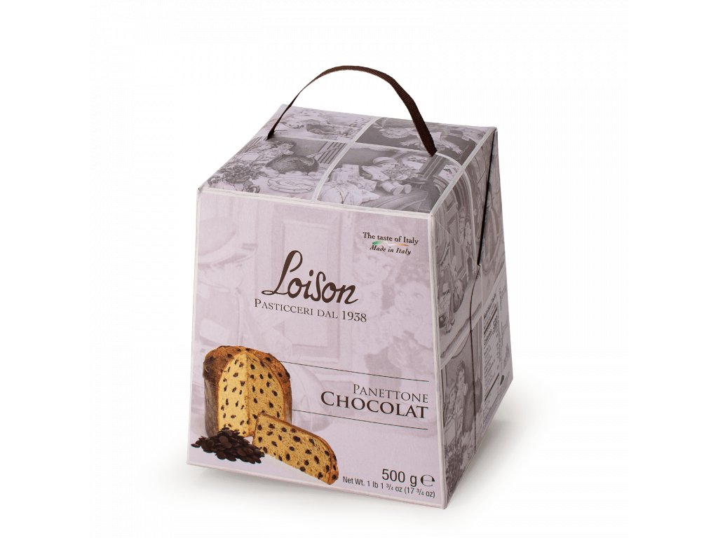 Panettone Čokoládové Loison – 500g Astucci
