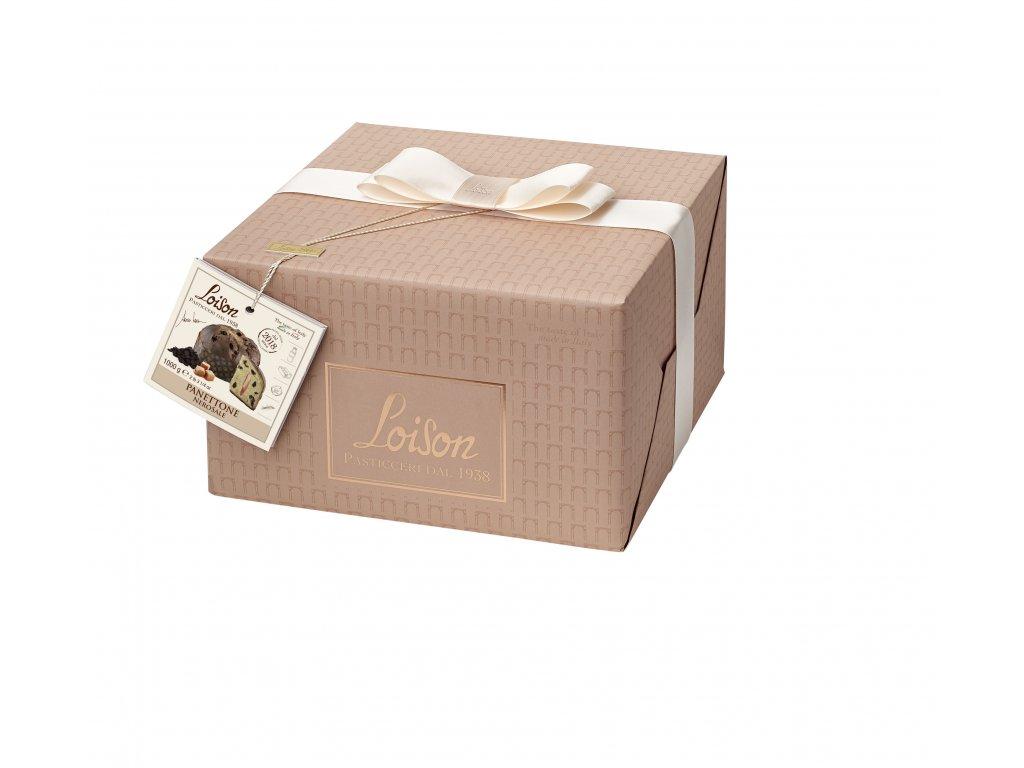 Panettone Nerosale s čokoládou a slaným karamelem Loison – 1 kg