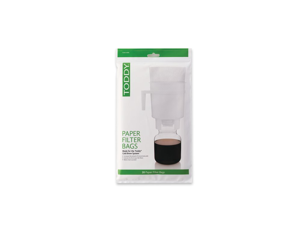 toddy cold brew system paper filter 20 pack package