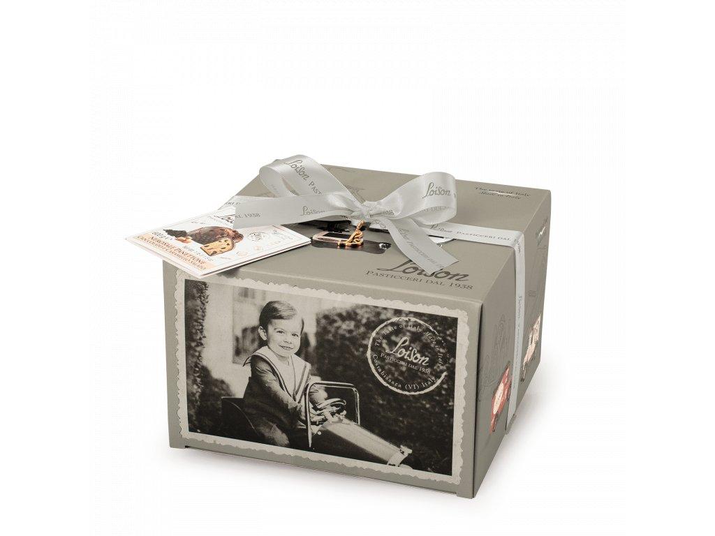 Panettone Nerosale s čokoládou a slaným karamelem Loison - 600g EROI