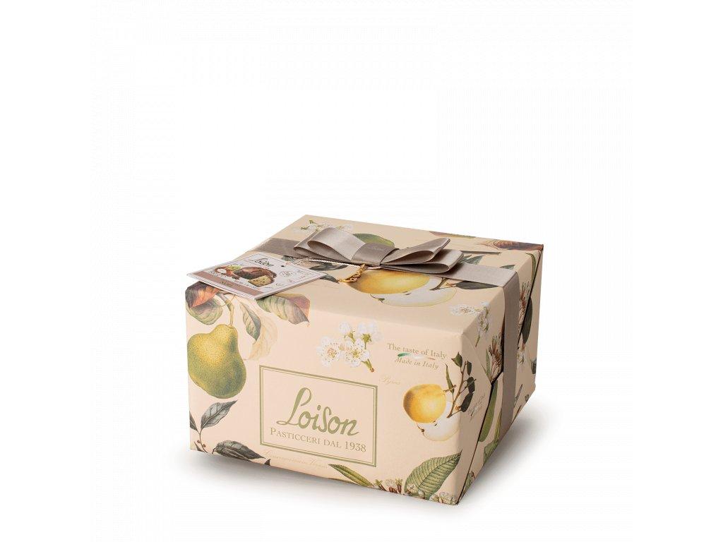 Panettone Noël s hruškami, skořicí, anýzem Loison 500g FRUTTA