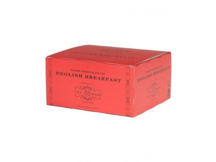 HARNEY AND SONS ENGLISH BREAKFAST BOX OF 50 FOIL WRAPPED TEABAGS grande