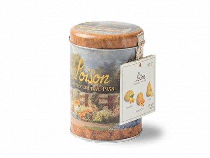 mix sušenek v plechovce 120g  citron, meruňka, hruška