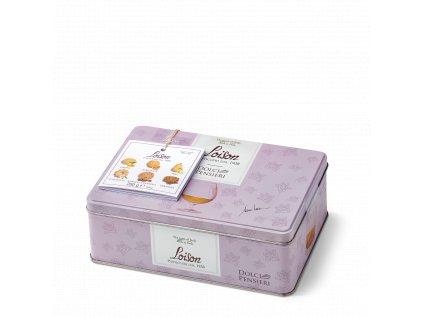 mix sušenek v plechovce 280g Biscuits Limone,Albicocca,Pera,Camomilla,Amarena