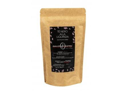 sypaný čaj PAVIN CAFFE černý s lékořicí, balení 100gr
