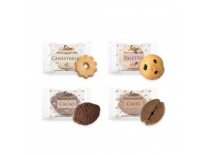 Mix máslových sušenek Dario Loison 1250g - 200 ks