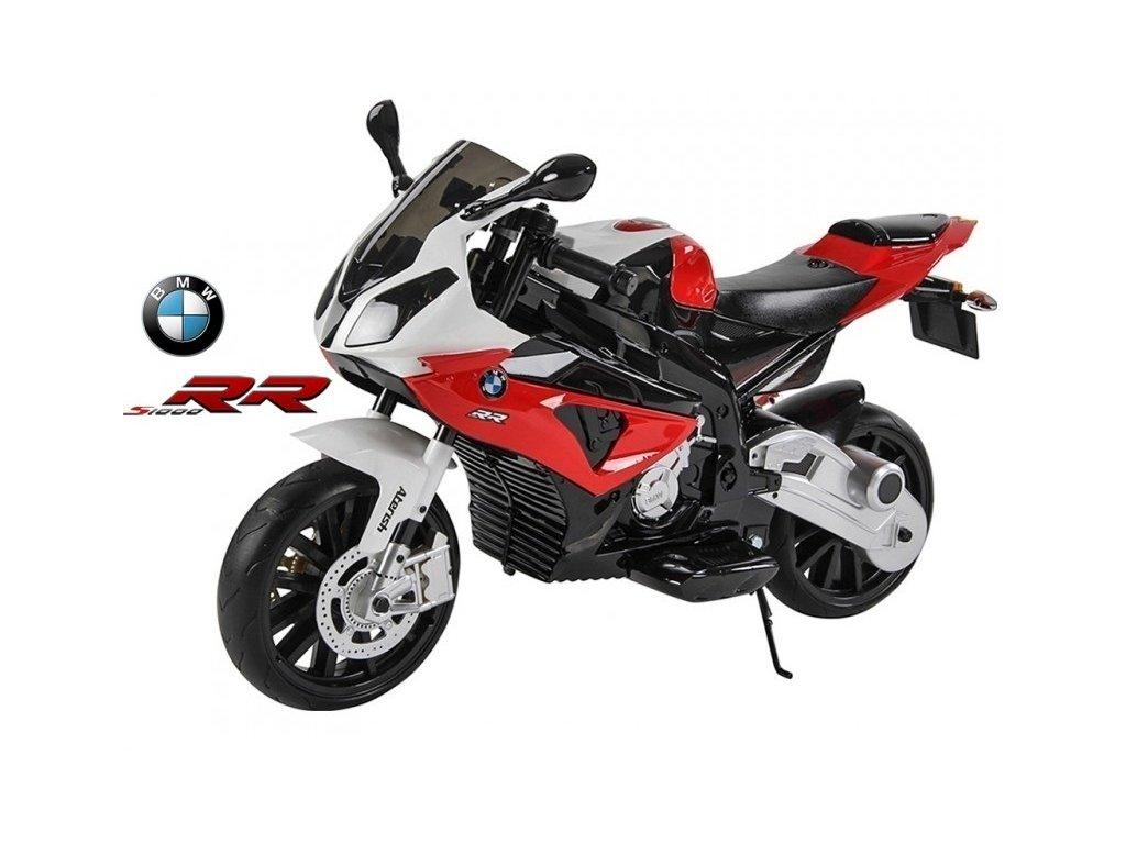 221 13 elektricka motorka bmw s1000 rr licence superbike 12v stojan nebo pomocna kolecka cervena
