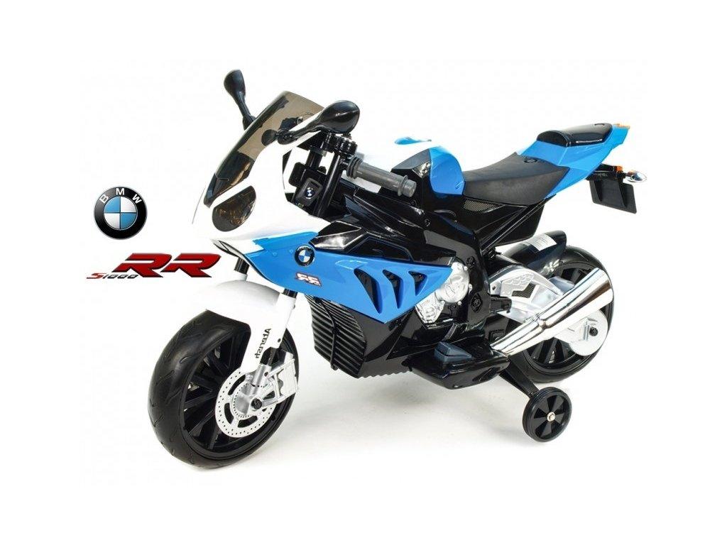 260 20 elektricka motorka bmw s1000 rr licence superbike 12v stojan nebo pomocna kolecka modry