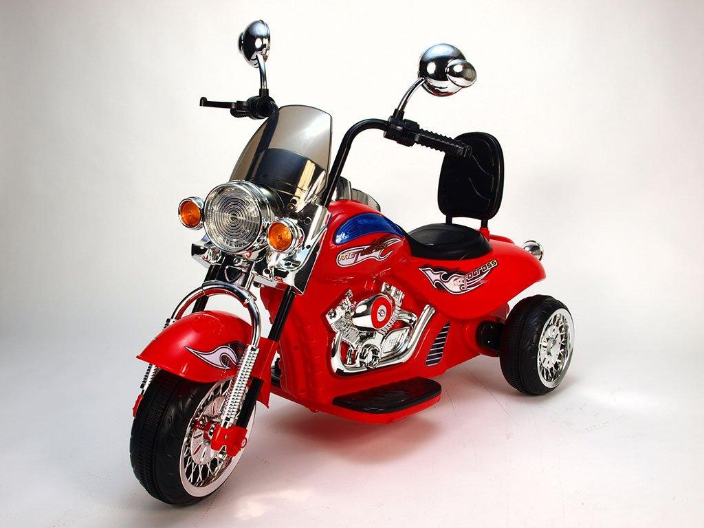 233 10 elektricka motorka chopper hl500 2 motory 12v cervena