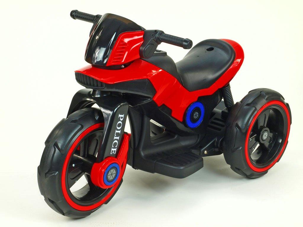 281 13 elektricka motorka na velikych kolech atraktivni design usb tf mp3 2x nahon 2 motory 6v cervena
