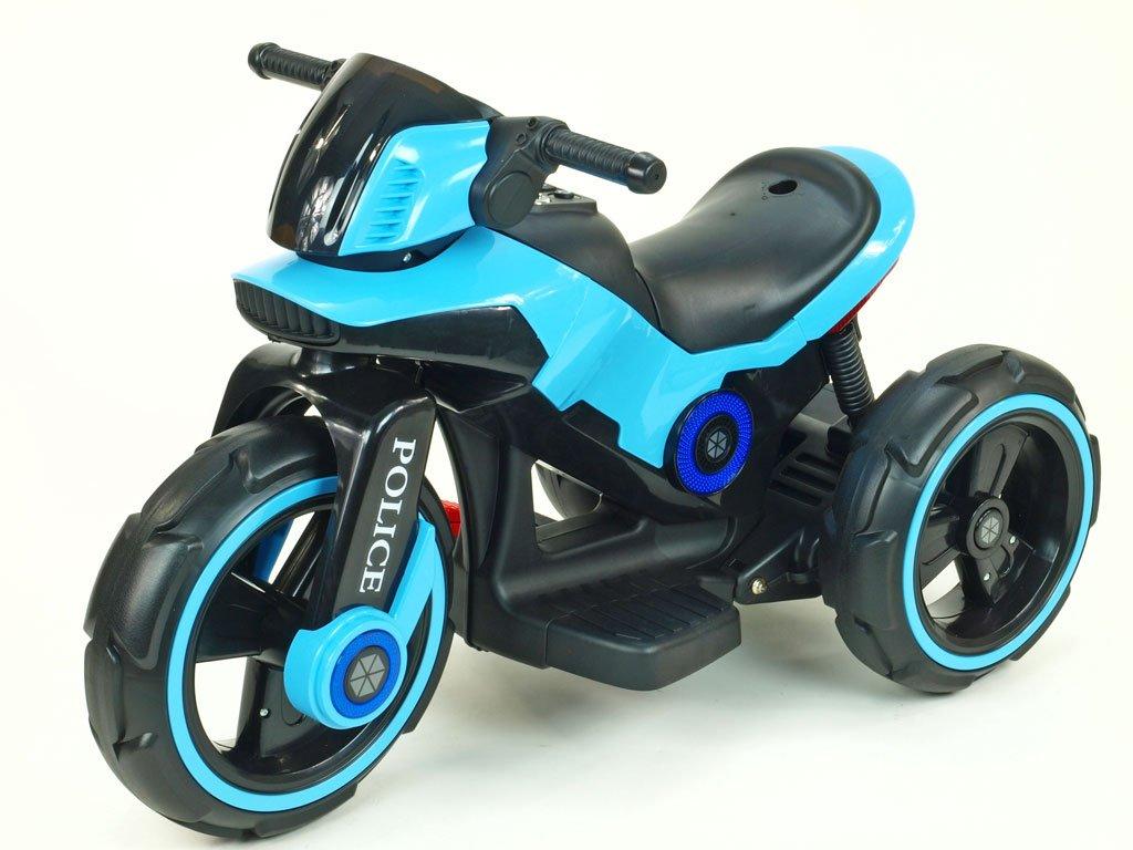 212 13 elektricka motorka police na velikych kolech atraktivni design usb tf mp3 2x nahon 2 motory 6v modra