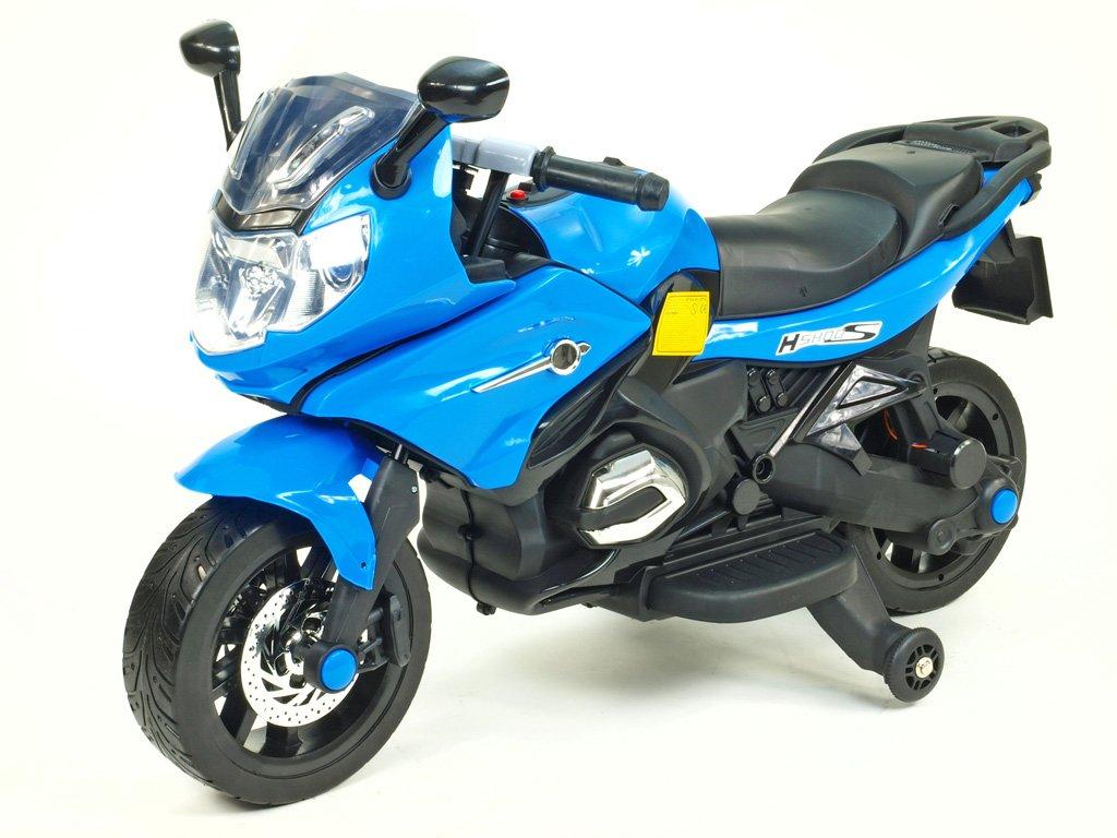 251 17 elektricka motorka pro zacinajici 12v 2x motor mekcena kola modra barva