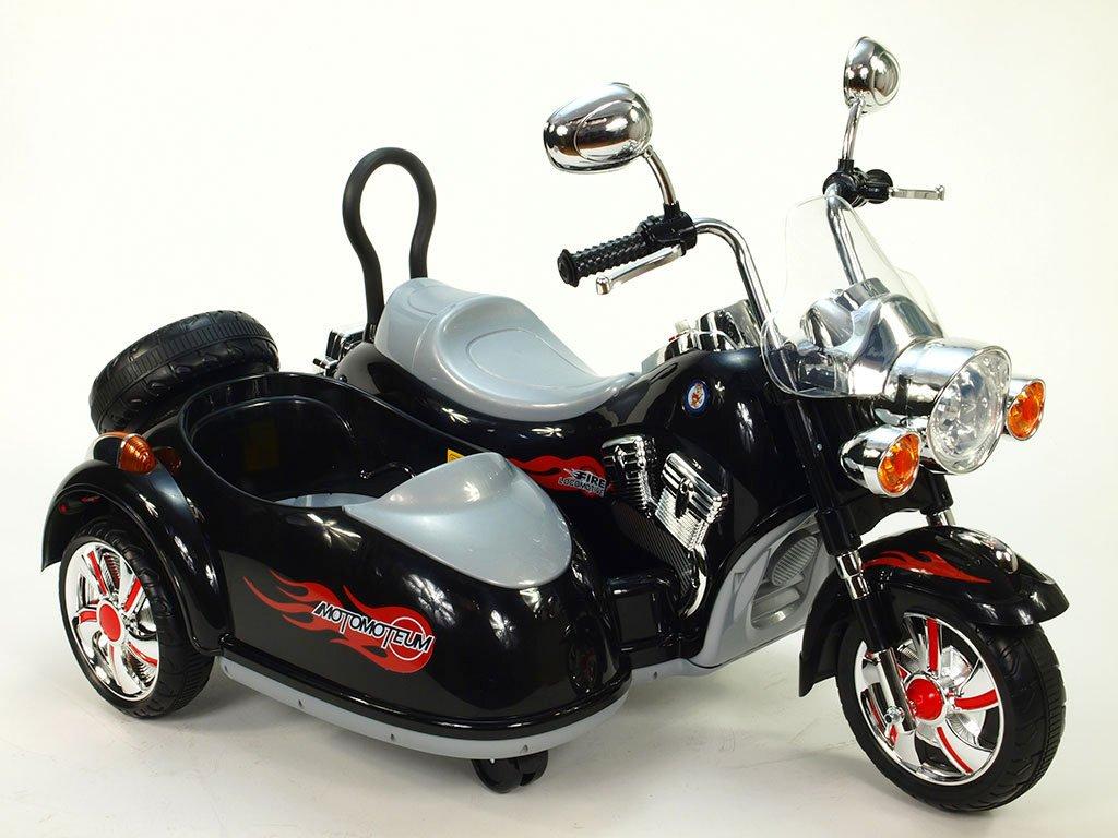 278 21 elektricka motorka se sajdkarou 2xmotor 12v neuveritelne led efekty perovanim napravy cerna