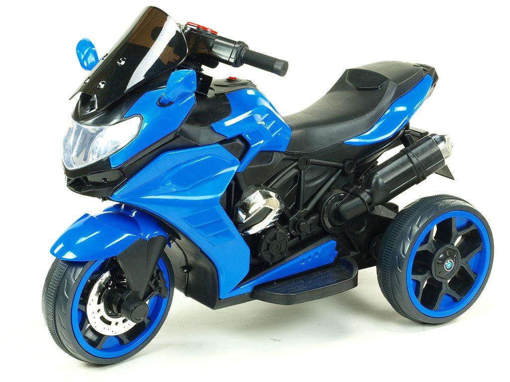 239 19 elektricka motorka tricykl dragon s mohutnymi vyfuky motory 2x12v digiplayer usb mp3 voltmetr led osvetleni cervena barva