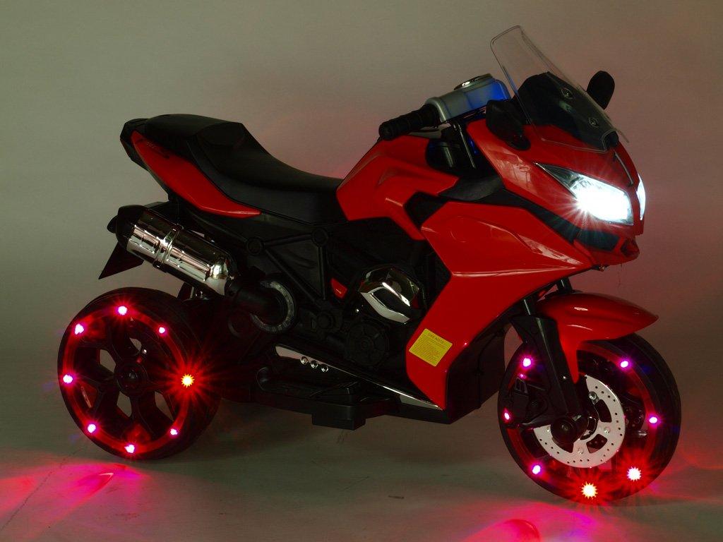 311 22 elektricka motorka tricykl dragon s osvetlenymi koly motory 2x6v perovanim napravy led osvetleni
