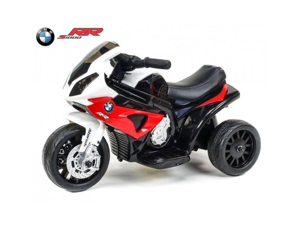 317 16 elektricka motorka trike bmw s1000rr pro zacinajici s led svetly calounenou sedackou 6v cervena