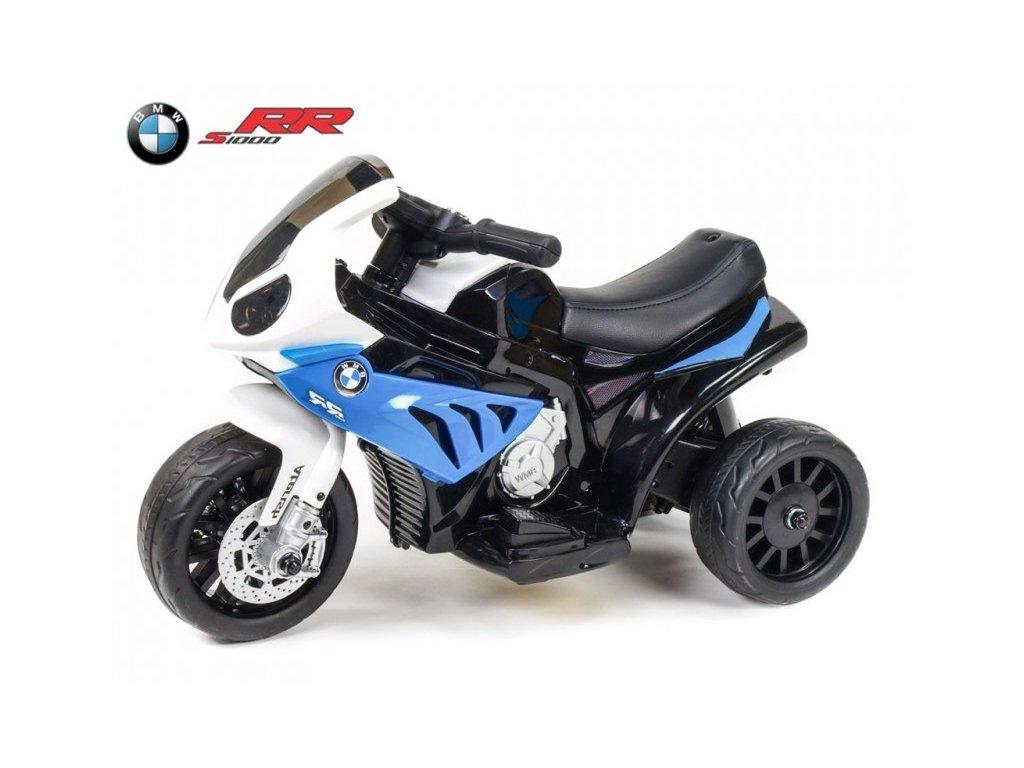 314 14 elektricka motorka trike bmw s1000rr pro zacinajici s led svetly calounenou sedackou 6v modra
