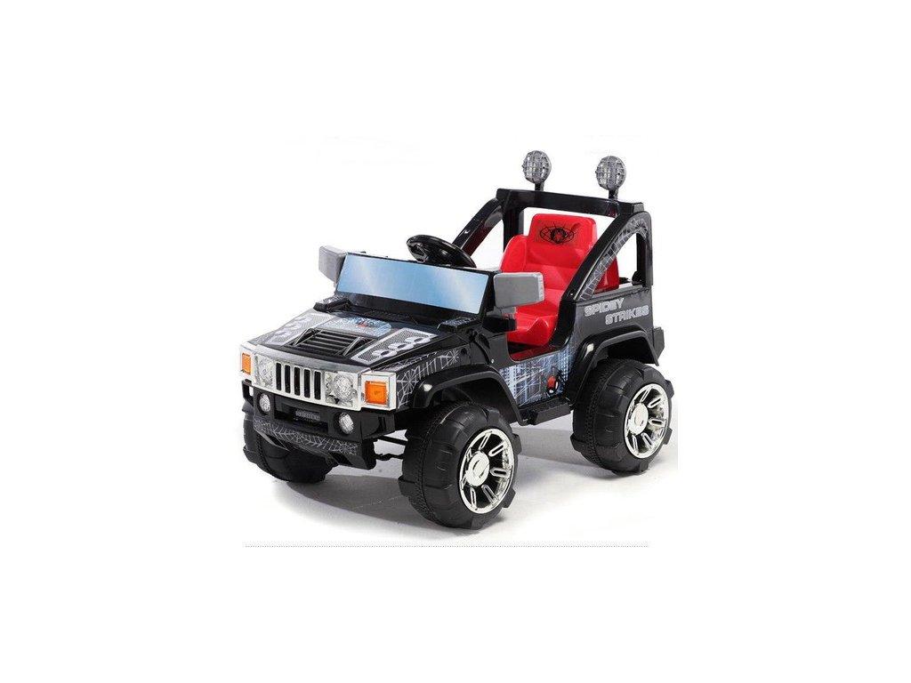 542 16 elektricke auticko elektricky silny dzip s dalkovym ovladanim styl humer 2x motor 45w 12v cerny