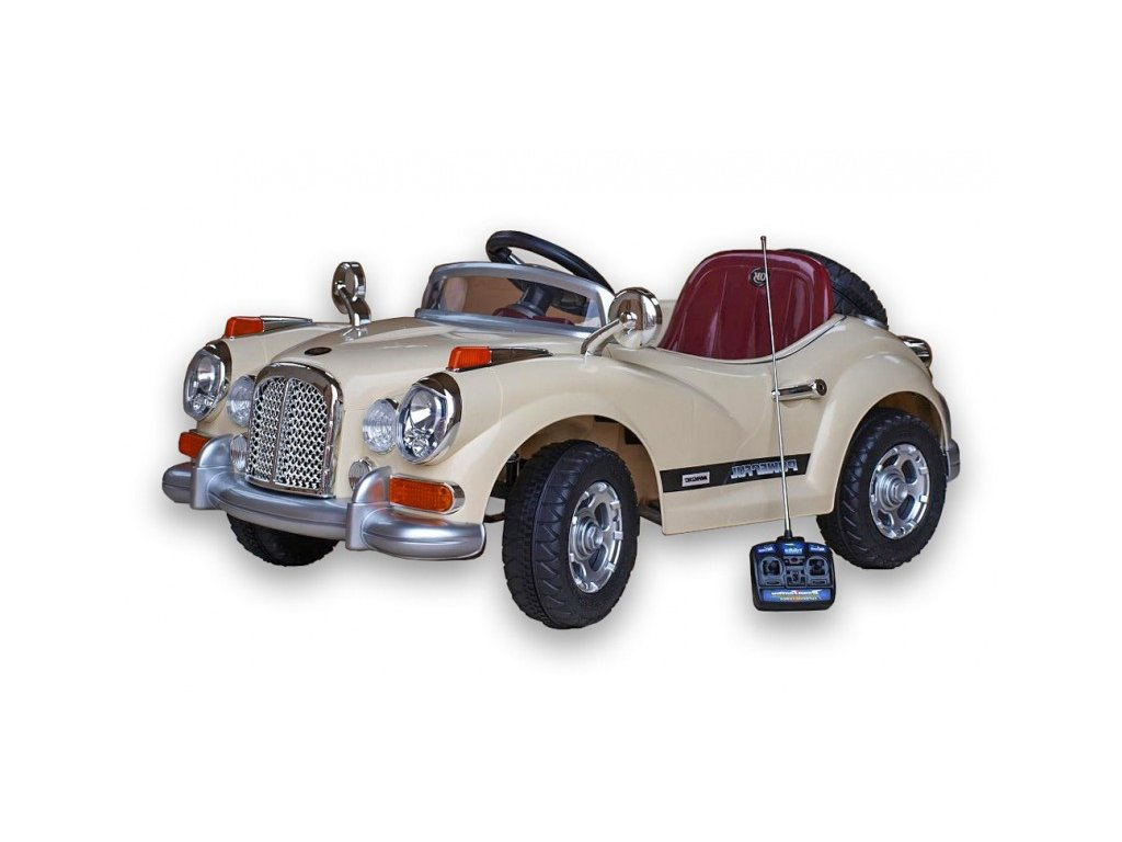 413 13 elektricke auticko luxusni oldtimer s do perovanim napravy 2xmotor 12v bezovy