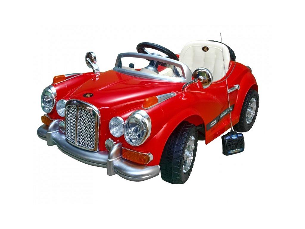 359 22 elektricke auticko luxusni oldtimer s do perovanim napravy 2xmotor 12v cerveny