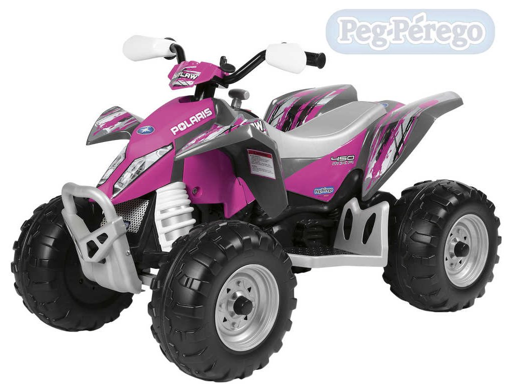 16481 peg perego polaris outlaw pink 12v elektricke vozitko