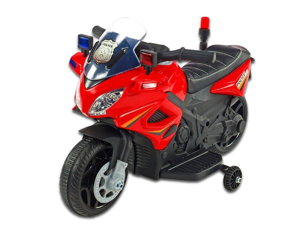Moto mini Polic 911 červená 1