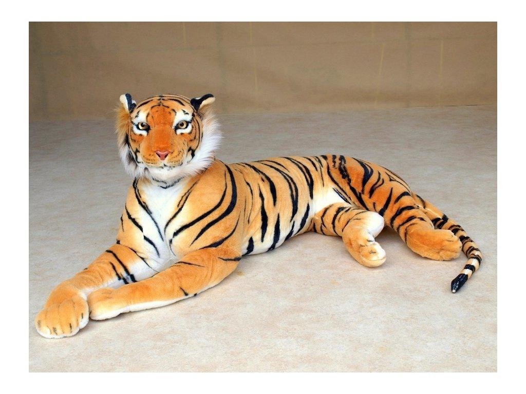 Obrovský plyšový tygr, 200cm, oranžový