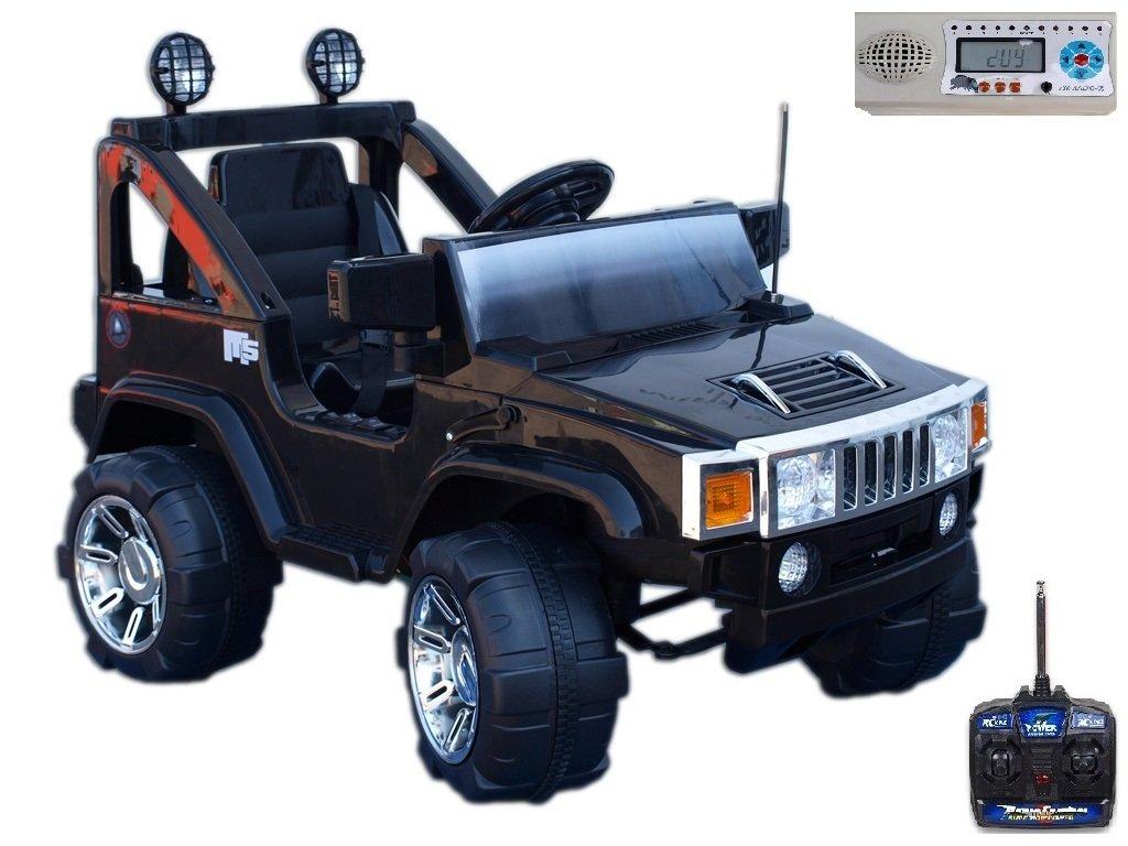 Elektrický džíp Humvy jednomístný, černý