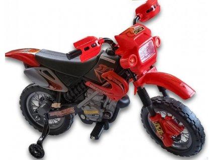 215 11 elektricka motorka crosska 6v cervena barva
