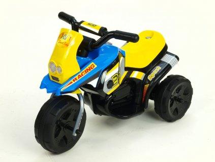 284 11 elektricka motorka racing sport 6v s 2 svetly a hudbou pro nejmensi modra