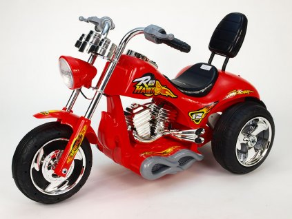 257 15 elektricka motorka rychly chopper red hawk s nahonem obou zadnich kol 12v