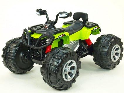 848 12 elektricke auticko 24v ctyrkolka dune 8 star na obrovskych kolech 44x24cm 2xmotor 24v zelena