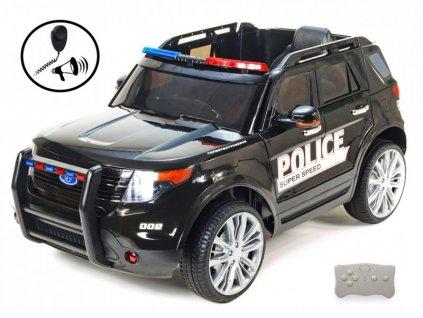 695 25 elektricke auticko dzip usa policie s 2 4g do megafonem policejnim osvetlenim eva koly otviracimi dvermi perovanim fm usb sd mp3 volt cerny