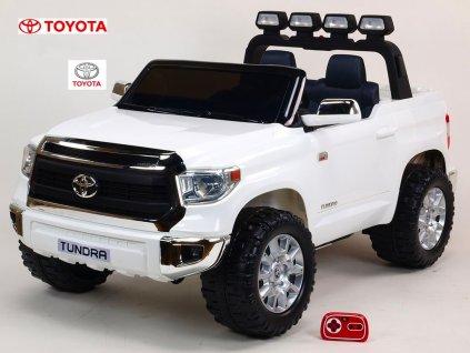 Elektrické autíčko dvoumístné Toyota Tundra, největší velikost bílá
