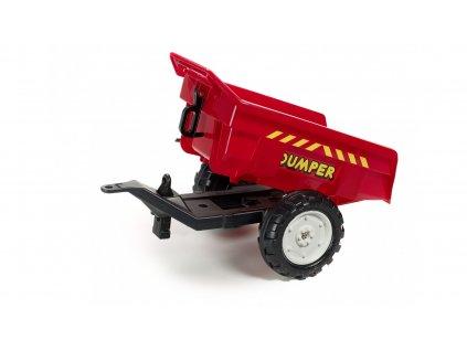 887 10 elektricke auticko vlek za traktor dumper veliky vyklopny 2 kolovy delka 82 cm made in france