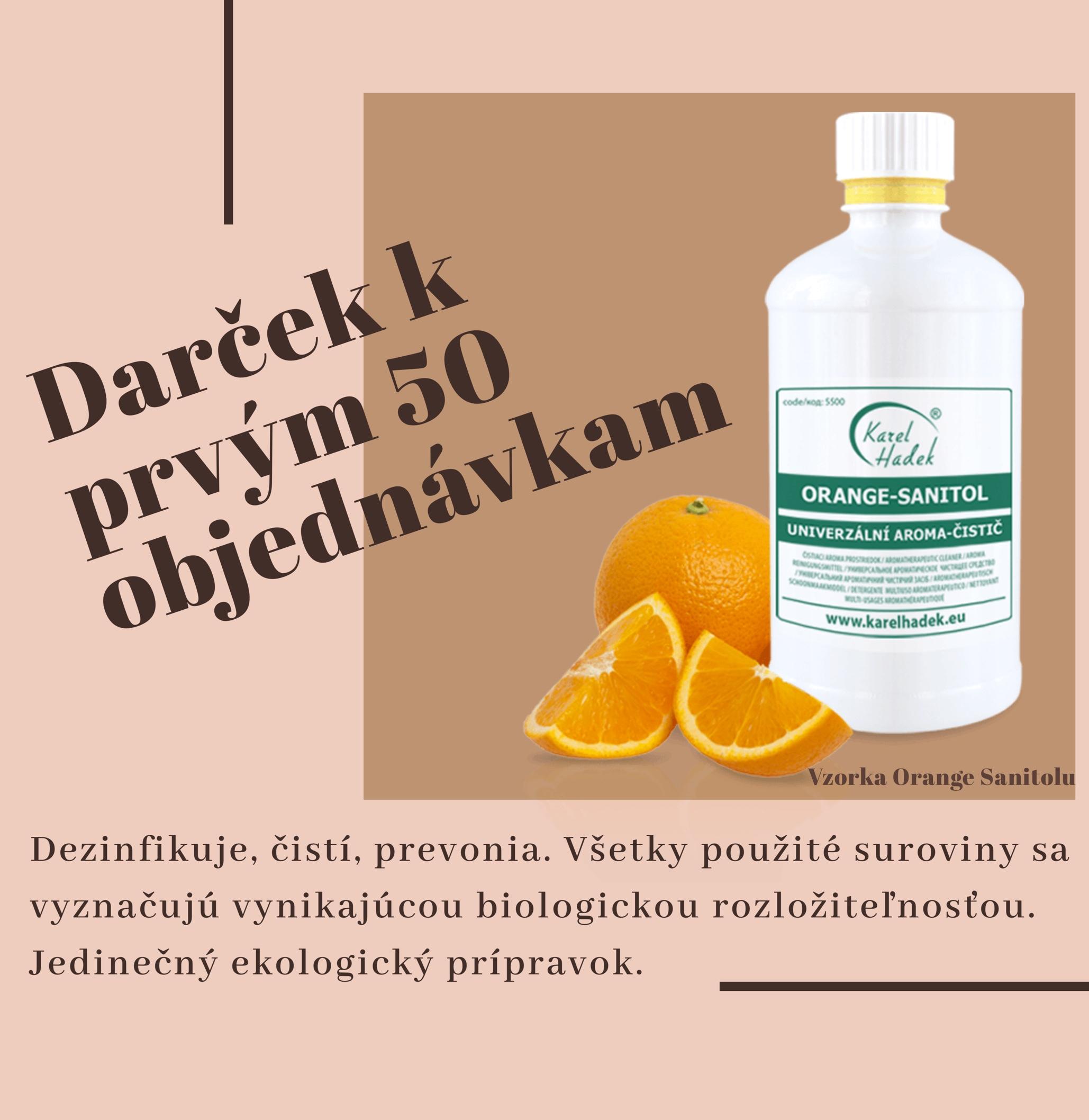 Darček - vzorka Orange Sanitol