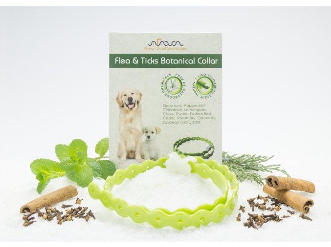 Antiparazitný bylinný obojok pre psov a šteniatka