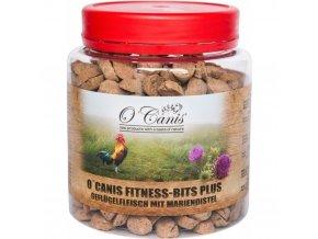 O'Canis Fitness Bits PLUS Drůbež s ostropestřcem
