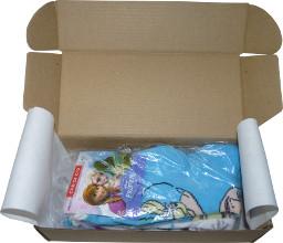 Výseková krabice - balení ponožky